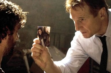 Bryan (Liam Neeson) prepares to take extreme measures during his interrogation of a man he suspects of being a key player in the kidnapping of Bryan's daughter.