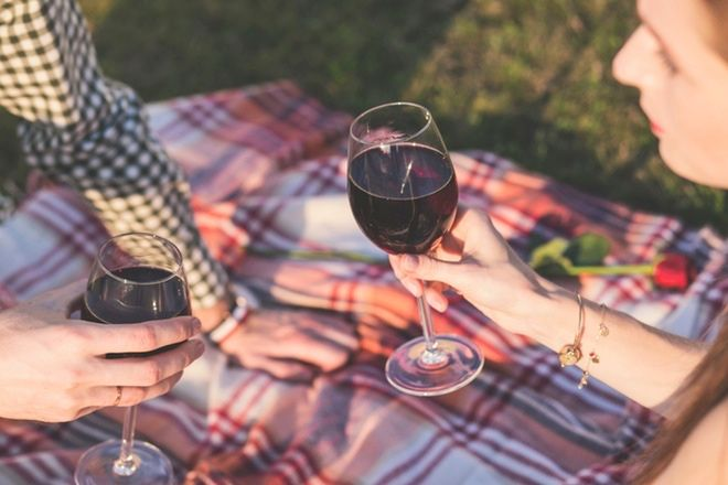 cheers with red wine